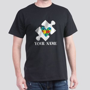Autism Puzzle Heart Personalized T-Shirt